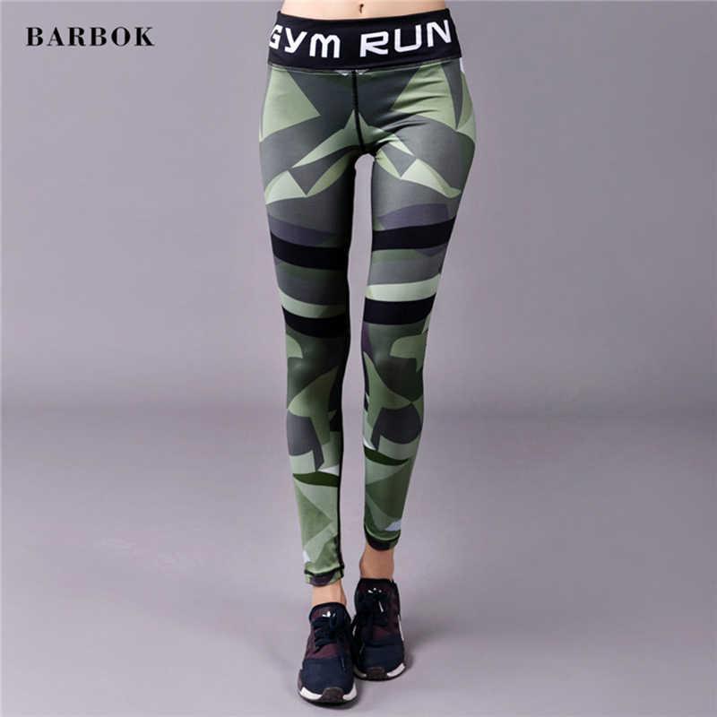 BARBOK יוגה מכנסיים נשים ספורט מכנסיים יוגה חותלות סקסי Trainning צפצף Slim הדוק כדורגל ריצה כושר ריצה חותלות