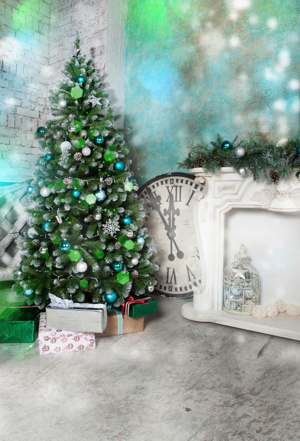 Christmas Photo Background Christmas Tree Backdrop Party