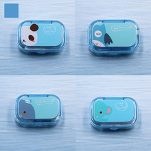 COLOUR_MAX Unisex Cartoon Contact Lenses Case For Eyes Container Lens Box Mirror Travel
