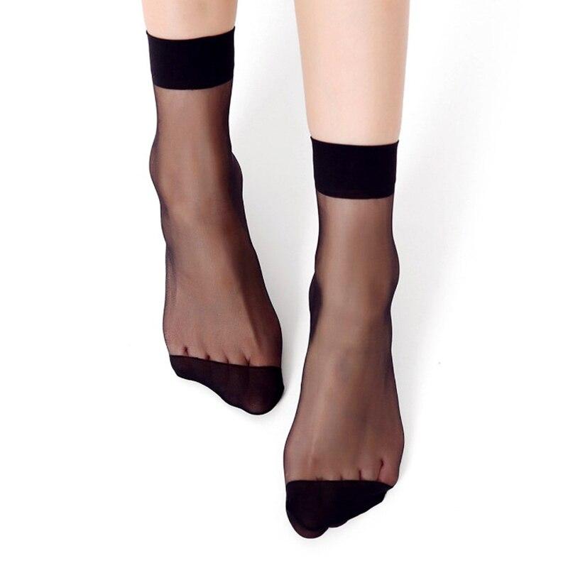 20Pieces 10 Pairs Summer bamboo female Short Socks Women's socks Thin Crystal Transparent Silk Socks  Girl Ankle Sox