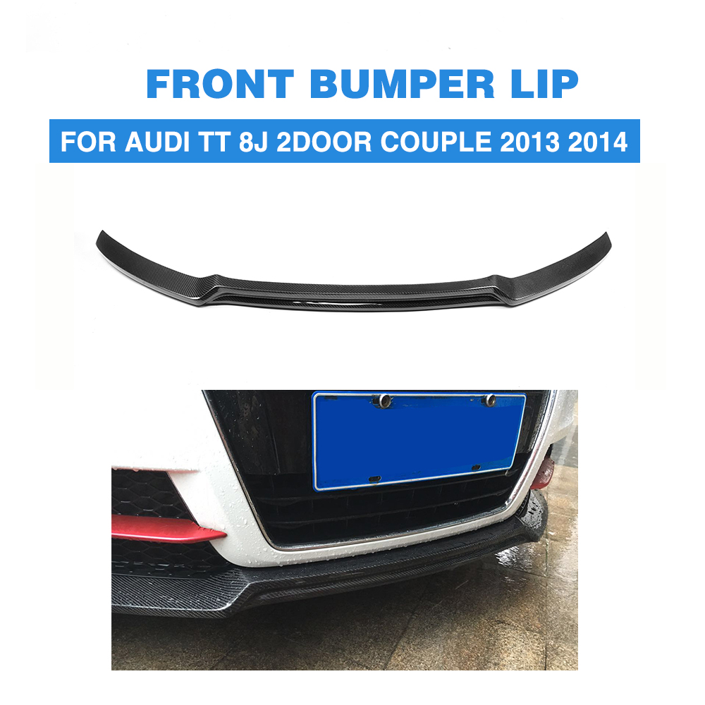 Переднего бампера Диффузор для губ углеродного волокна для Audi TT 8J 2 двери пару 2013 2014 TTS кабриолет родстер 2008 2013