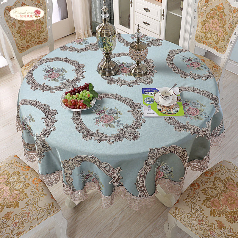 US 39 OFF Proud Rose European Round Tablecloth Big Size Cover Cloth Lace Bedside Table Cover Desk Covers Home Decoration Kitchen Supplies In