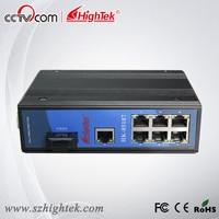 Hightek hk 85107 10/100 м промышленных 7 портов и 1 Волокно сетевой коммутатор Ethernet