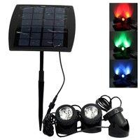 Portable Outdoor Solar Power LED Lights RGB Cold White Led Landscape Light Solar Garden Lamp Waterproof