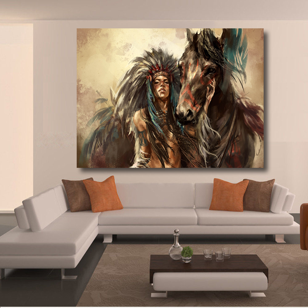 living room art prints qkart painting frameless americans canvas print 14402