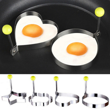 Stainless Steel Egg Shaper Egg Mold Cooking Tools Pancake Molds Ring Heart Flower Kitchen Gadget Home Garden 1 Pcs