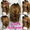 150% virgin малайзии тело волна волос full lace человеческих волос, парики 1b/27 ломбер парик фронта шнурка для чернокожих женщин glueless полный шнурок парик