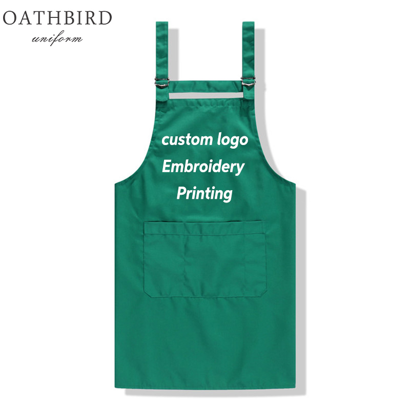 Customerized Logo Vest For Coffe Store And Resurant Uniform High Quality Custom Embroidery Store Name  Or Printing Text