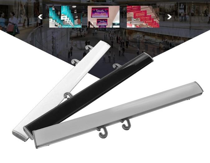 70cm h plastic poster snap poster banner holder strip kt board display rack rails rod picture