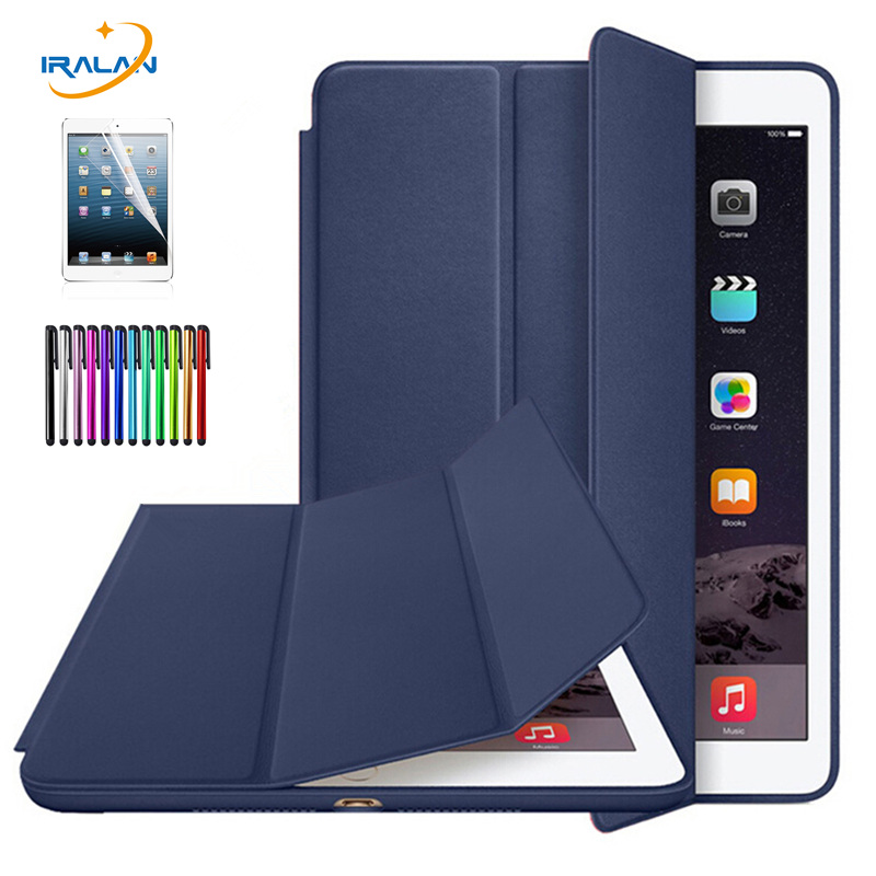 2018 hot Ultra Slim Smart Case for Apple IPad Air 1 Official 1:1 Pu Leather Stand Cases Capa Fundas for IPad 5 Cover+Stylus+film for apple ipad air 2 pu leather case luxury silk pattern stand smart cover