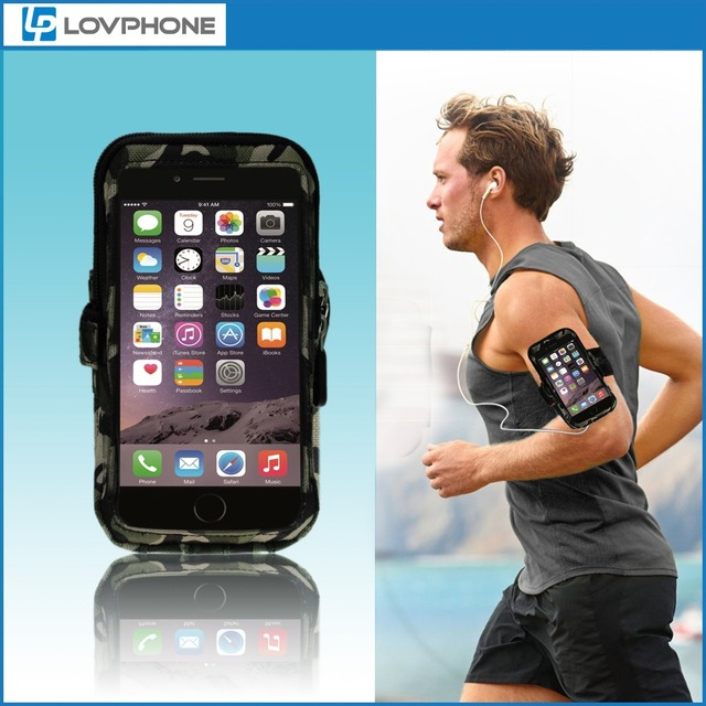 pretty nice eb8ca 9786f US $12.99 |Lovphone For iPhone 6 Plus 5.5 Inch Sport Armband Case Outdoor  Exercise Camouflage Adjustable Waterproof Running Phone Bag-in Armbands  from ...