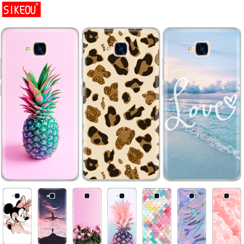 Cover Phone Case For Huawei Honor 5C Soft TPU Silicon Back Case For Honor 5C Cover 360 Full Protective Printing Transparent