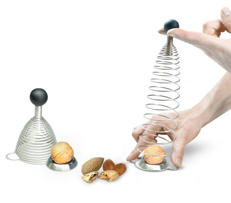 Nut Cracker Spiral Spring, Stainless Steel, Silicone, Height: 10 cm