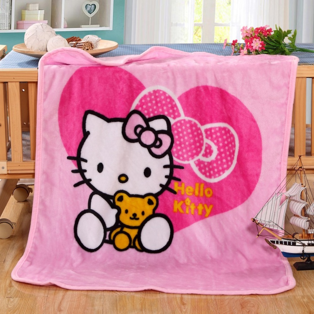 31aad0ff8 Aliexpress.com : Buy Hot Sale Cute Hello Kitty Children Blanket Cartoon  Baby Nap Blanket School Blankets For Kids Size 70x100cm from Reliable  Blankets ...