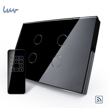 Livolo US/AU, Smart Switch, Pearl Crystal Glass Panel, Remote Touch Screen Light Switch With Touch Remote,VL-C304R-82&VL-RMT-03
