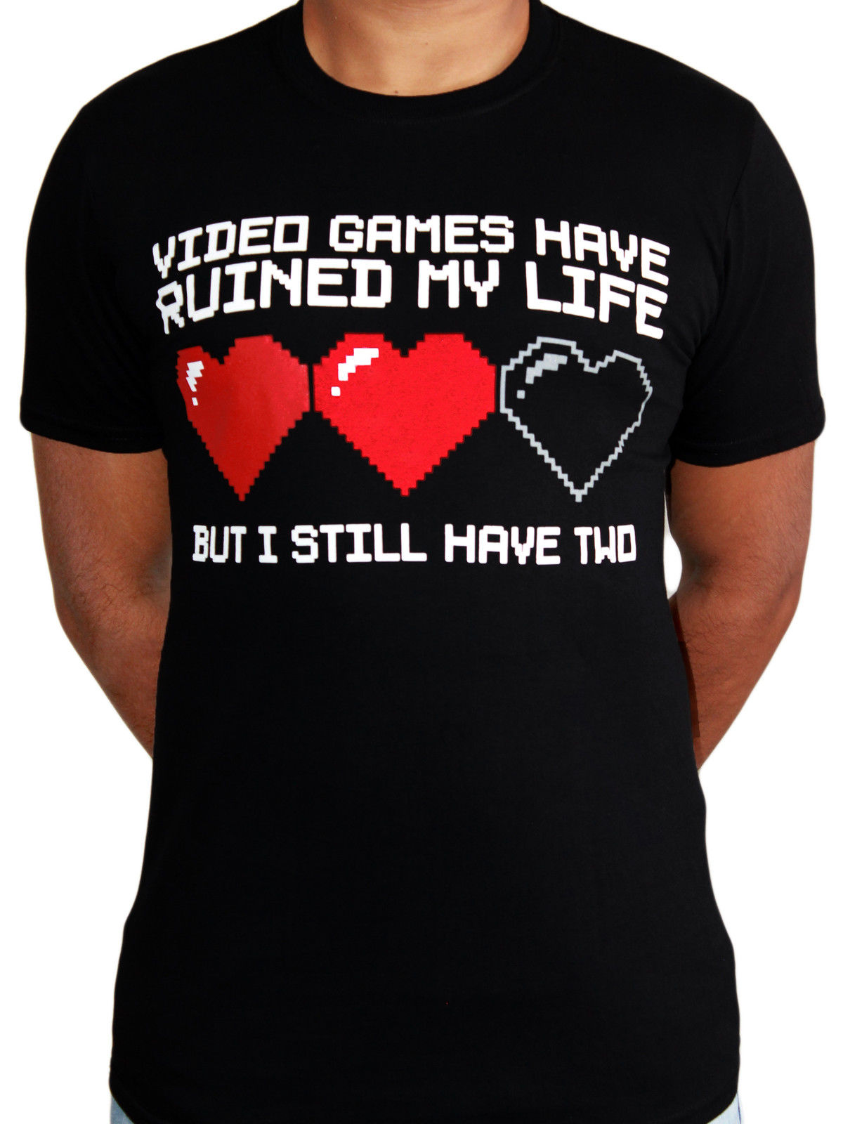 Video Games Lives Retro Classic Funny Meme Gamer Black Mens T-shirt Design T Shirts Casual Cool