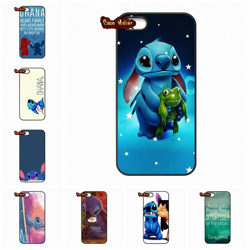 For LG G2 G3 G4 HTC One M7 M8 ilo Series Lilo and stitch Ohana Family Case Cover For iPhone 4S 5S 5C 6 6S Plus iPod Touch 4 5