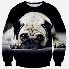 2019 New 3D Animal Print Sweatshirt Men Cute Dog Funny Pug Full Hip hop Leisure Jumper Streetwear Pullover Top Harajuku