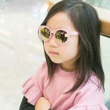 Nuevo 2017 Ronda gafas de Sol Para Niños Niños Del Bebé gafas de Sol de Espejo Rosa amarillo Niñas Gafas de Sol Para Niños Gafas de Sol Niños gafas