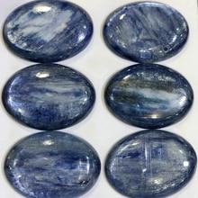 Натуральный Кианит бусины кабошон, полу-драгоценный камень Кабошон 22x30 мм овальные кабины ювелирные изделия кольцо на палец, уход за кожей лица, 2 шт./лот