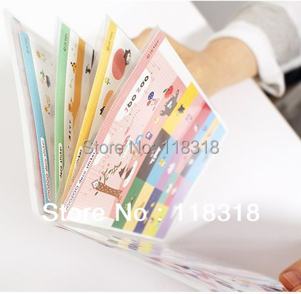 Min Order is $5, (1 Lot=8 Pcs) DIY scrapbooking Products Paper Stickers Diary Notebook Decoration Sticker Set