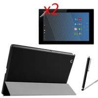 Ultra Thin Slim Magnetic Folio Stand Leather Case Smart Cover 2x Clear Films 1x Stylus For