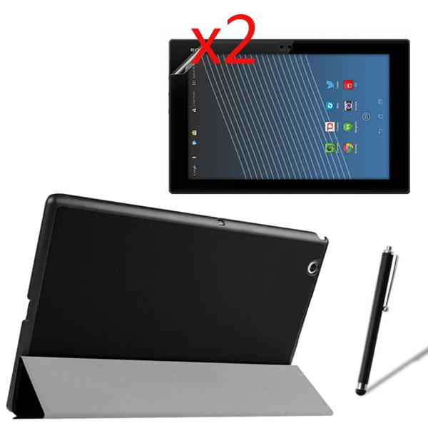 Ultra Slim Magnetic Folio Stand Leather Case Smart Cover +2x Films +1x Stylus For Sony Xperia Z4 Tablet Ultra 10.1 SGP771 SGP712 смартфон sony xperia xa1 ultra dual