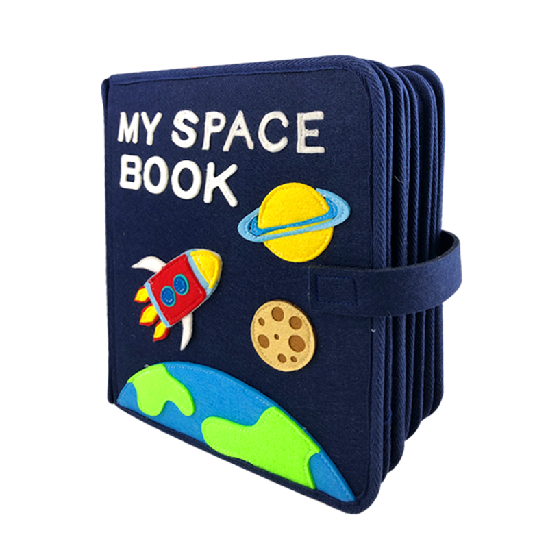 Handcraft Montessori My Space Book Baby Early Education First Quiet Felt Book 21X25CM Mom DIY Picture Book Felt DIY Package