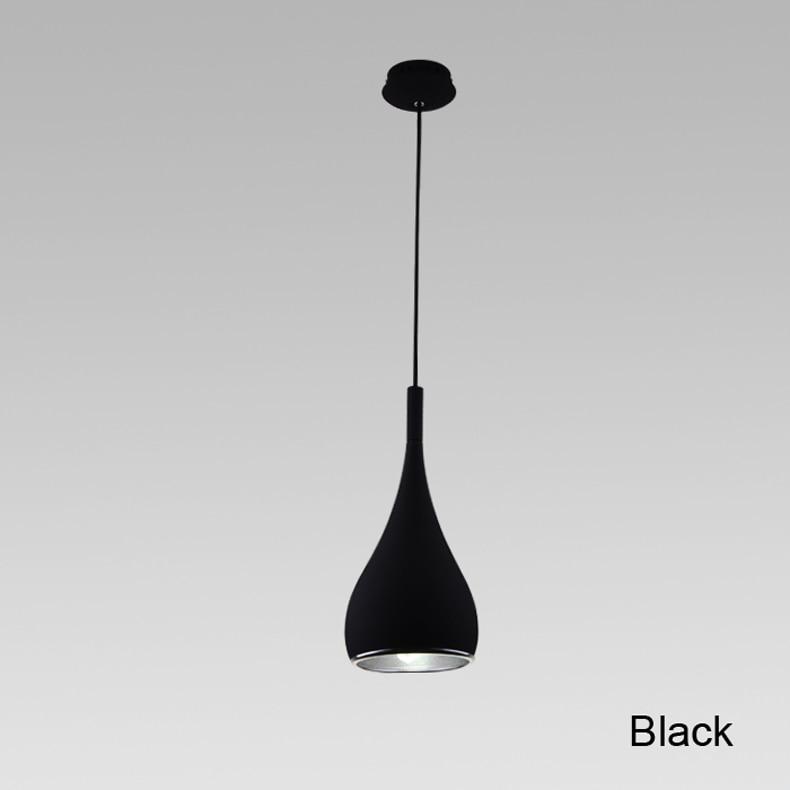 Амерички стил Нова модна привезна лампа Диа16цм * Х120цм Кухиња Привезак Светло Алуминијумски Хром 110-240В Три боје трпезарија