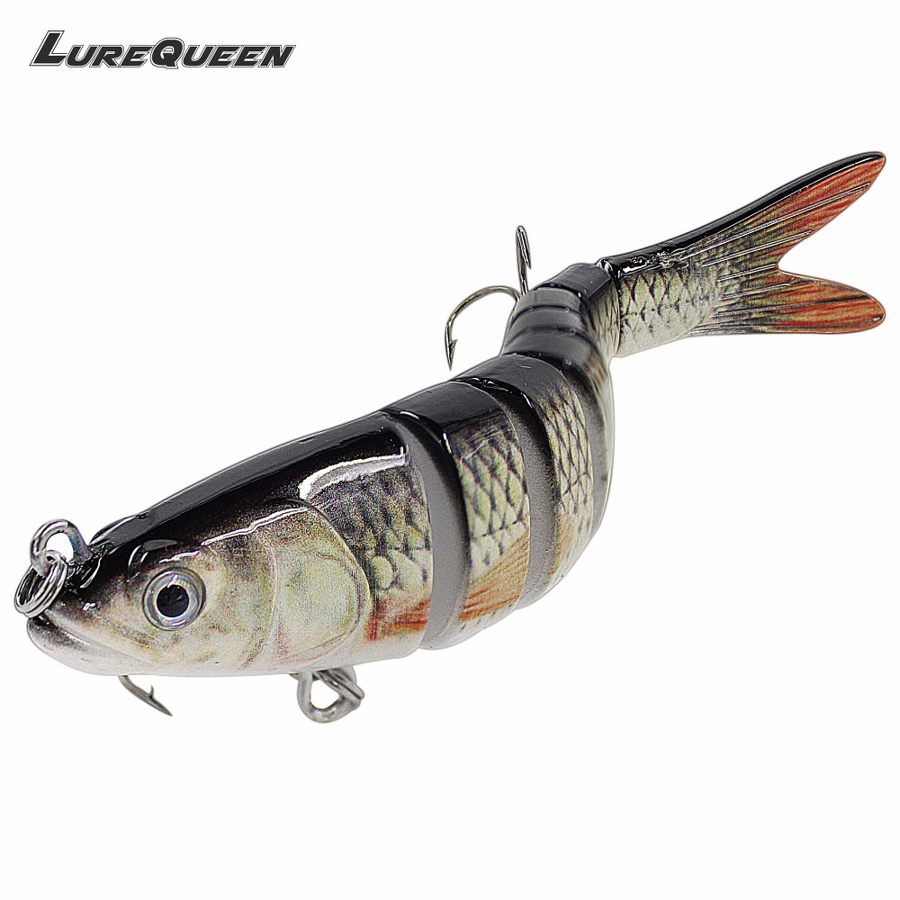 Sinking Wobblers 8 Segments Fishing Lures Multi Jointed Swimbait 26g Hard Bait Fishing Tackle For Bass Isca Lifelike Crankbait стоимость