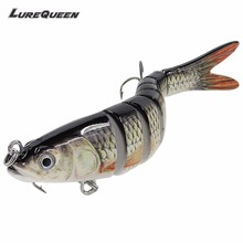 Sinking Wobblers eight Segments Fishing Lures Multi Jointed swimbait 26g Exhausting Bait Fishing Deal with For Freshwater Isca