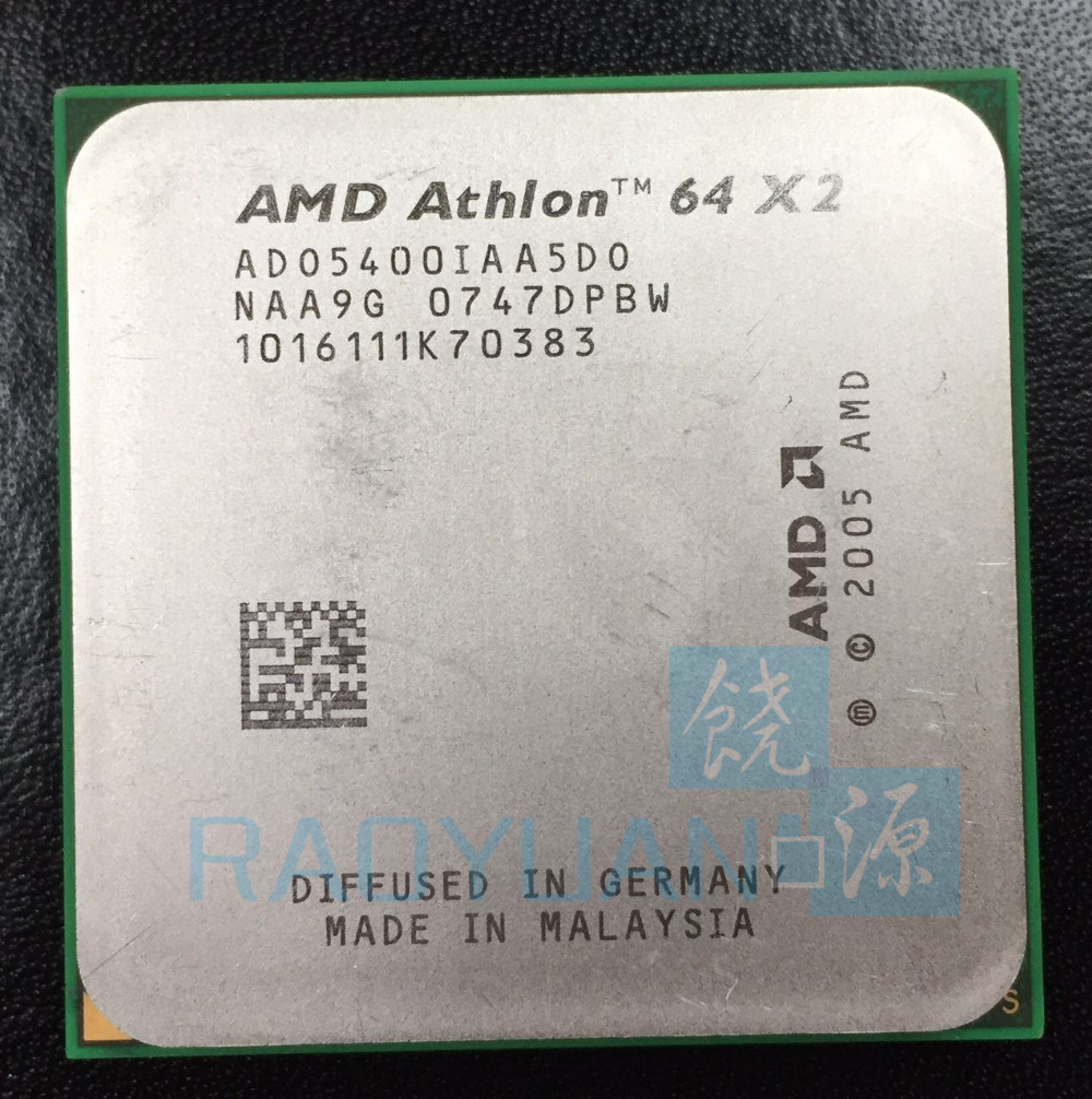 AMD Athlon 64 X2 5400+ 2.8 GHz Dual-Core CPU Processor ADO5400IAA5DS ADO540BIAA5DO ADO5400IAA5DO Socket AM2