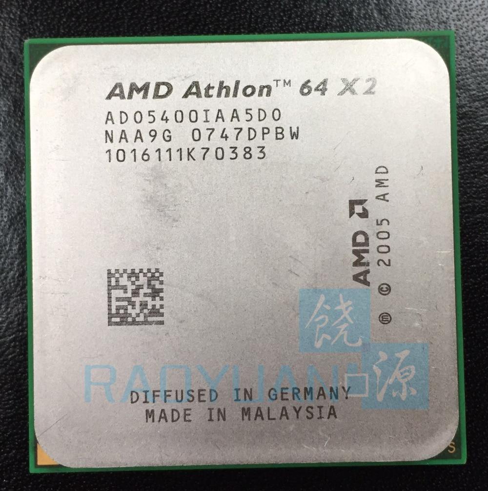 AMD Athlon 64 X2 5400+ 2.8 GHz Dual-Core CPU Processor ADO5400IAA5DS ADO540BIAA5DO ADO5400IAA5DO Socket AM2