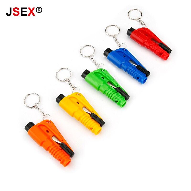 Mini Safety Hammer Auto Car Life-saving Escape Hammer Window Keychain Car Window Broken Emergency Glass Breaker Seat Belt Rescue