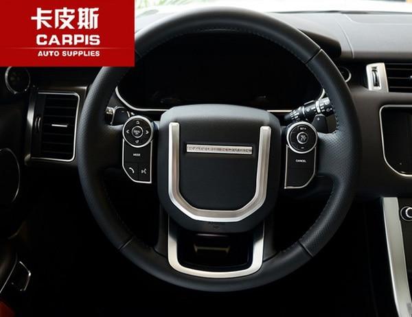 Chrome Car Steering Wheel Sequins Cover Trim Sticker For Range Rover Vogue SE 2013-2017 Range Rover Sport 2014-2017 Car Styling продам range rover sport 2 7 td 190 hp