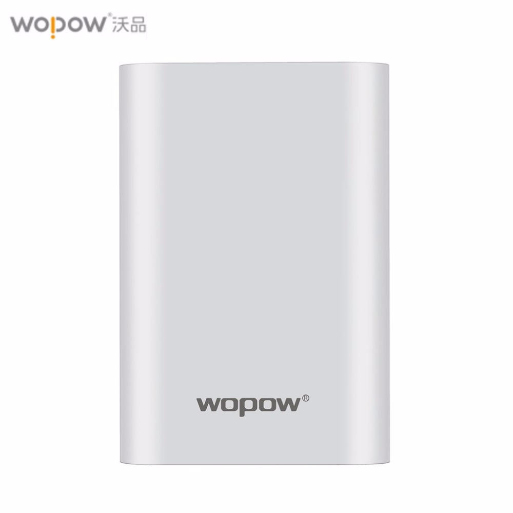 Wopow 10000mAh Fast Charging Mobile Power Bank Dual USB Output Portable External Battery Pack Indicator Powerbank