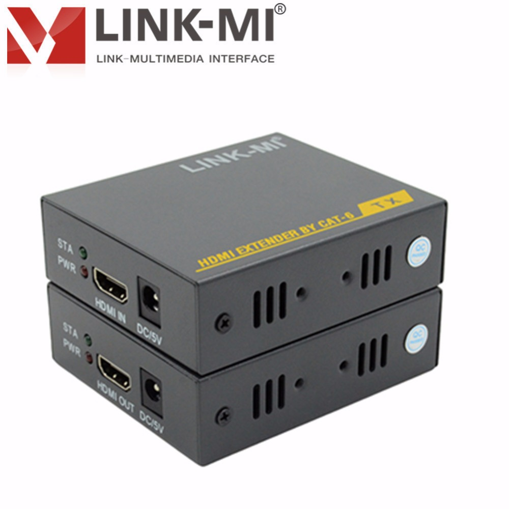 LINK-MI LM-HT204H HDMI 1.3 HDCP 1.2 1080p 3D EDID HD Video HDMI Extender to 60m HDMI to UTP rj45 Extender Over Single Cat5e/6 80 channels hdmi to dvb t modulator hdmi extender over coaxial
