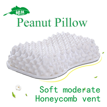 Pure Natural Latex Comfort Peanut Pillow New Design Cervical Health Care
