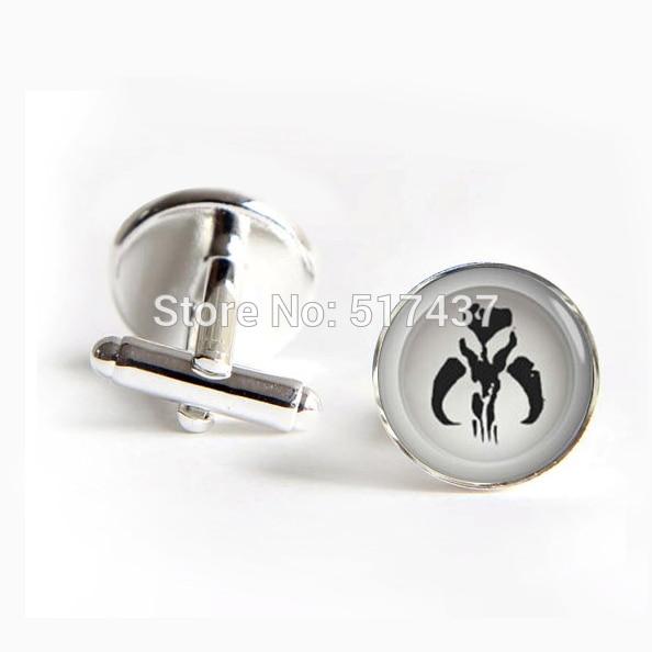 1 pair wholesale Starwars cufflinks perfect gifts for men shirt cuffs button gold silver cufflinks