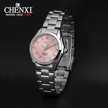 CHENXI Nueva Moda reloj de las mujeres Rhinestone reloj de cuarzo relogio feminino el reloj de las mujeres viste el reloj de moda reloj de mujer