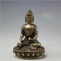 Древний бронзовый античный сделать старый Тибет Дворец Потала сувенир Будды Тантрический статуя Будды с антикварной улице магазин питания