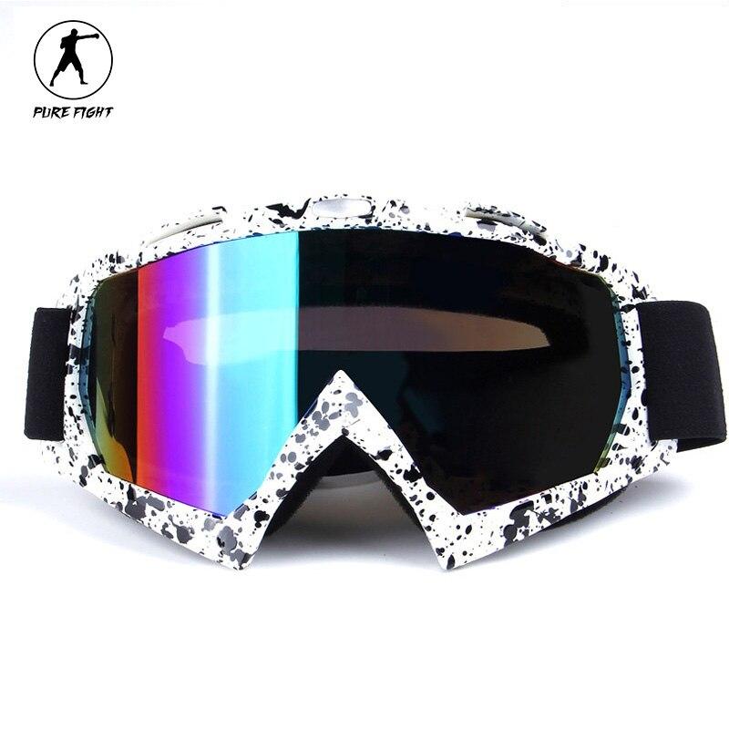 Prix pour Professionnel Lunettes de Ski Snowboard Moto Hiver Coupe-Vent Équitation Randonnée Googles Anti UV Lunettes Vision Plus Large Neige Lunettes