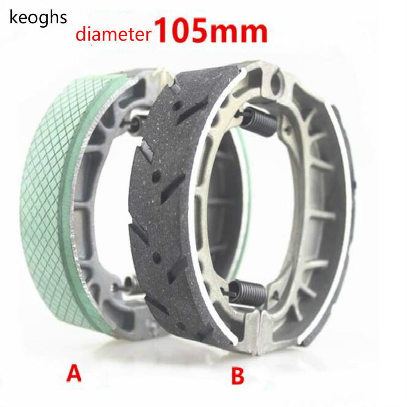 Wear-resisting Non-slip SCOOTER MOTORCYCLE GY6 CG125 Brake shoe Drum brake disks 11CM inner diameter free shipping goofit universal rear drum brake shoes pad for gy6 50 150cc moped scooter c029 073