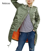 Winter long jackets and coats spring female coat casual military olive green bom