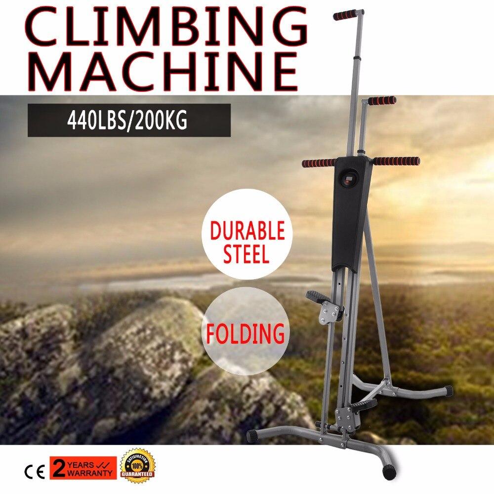 Home Gym Exercise Climber Machine Stepper Cardio Climbing System Fitness Workout