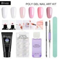 BUKAKI 6 unids/set Nails extensión jalea cristalina poli Set Gel constructor UV Gel para uñas arte manicura diseño rápido constructor extensión
