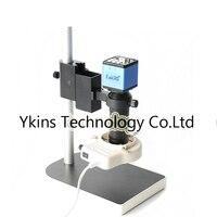 2.0MP 1/3 inch Digital Industrial Microscope Camera VGA Out Kit + 100X C Bayonet Lens + 56 LED Ring Light + Bracket