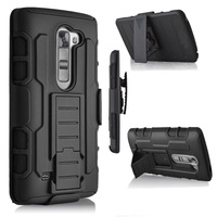 Top Quality 3 In 1 Shockproof Stand Rugged Armor Kickstand Holster Case For LG K7 Tribute