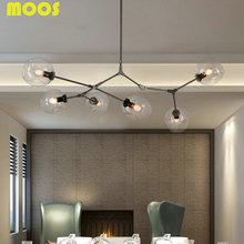 6 Lámparas Luminaria Lámparas Modernas de Iluminación Globo Burbuja de Ramificación de Oro Negro Pintado de Vidrio de Iluminación