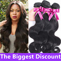 8A Peruvian Virgin Hair Body Wave 3Bundles Deal Tissage Peruvian Hair Bodywave Wavy Human Hair Weave Bundles Pervian Virgin Hair